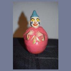 Antique Doll Roly Poly Papier Mache Schoenhut Clown For Circus