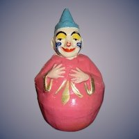 Antique Doll Roly Poly Papier Mache Schoenhut Clown For Circus