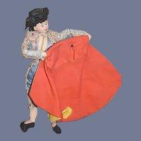 Old Cloth Doll Goya Bullfighter Sweet