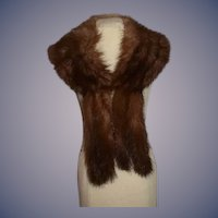 Wonderful Vintage Fur Stole for Doll Fancy