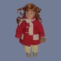 Kathe Kruse Doll Elea Red Head Dressed Sweet