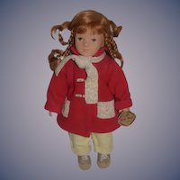 Kathe Kruse Doll Elea Red Head Dressed Sweet