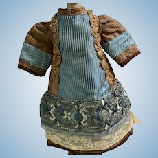 Wonderful Old Doll Dress for French Doll Petite