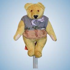 """Vintage Artist Teddy Bear German Johanna Haida """"Billy""""  Jointed Mohair W/ Tags:"""