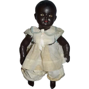 Old Black Doll Celluloid Jointed Glass Eyes Adorable