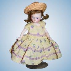 Antique Doll Miniature All Bisque Swivel Head Dollhouse