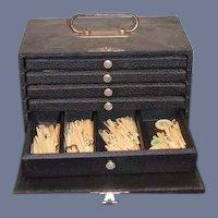 Old Mahjong Set W/ Case Mah Jongg