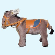 Steiff Donkey W/ Harness Button Tag Sweet 0126/20