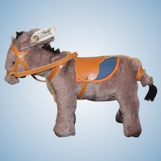 Steiff Donkey W/ Harness Button Tag Sweet 0126/20