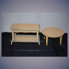 Old Doll Wood Painted Furniture Miniature Dollhouse