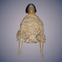Antique Doll Milliner's Model Fancy Hair Style Wood Papier Mache Sweet Clothes