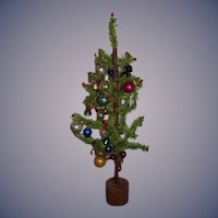 Vintage Doll Charlie Brown Christmas Tree Miniature Old Ornaments