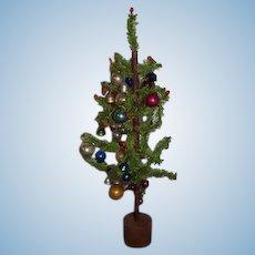 Vintage Doll Charlie Brown Christmas Tree Miniature Old Ornaments