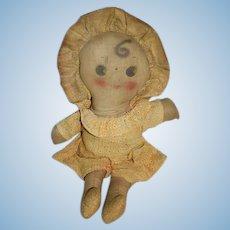 Old Doll Cloth Doll Rag Doll Original Clothes Matching Bonnet