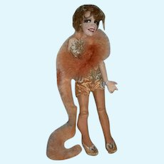 Old Ron Kron Doll Actress Gypsy Rose Lee or Who Gorgeous Sculpture One of a Kind