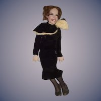 Wonderful Ron Kron Artist Doll Glass Eyes Celebrity Portrait Sculpture Glass Eyes Gloria Swanson Actress