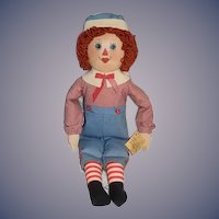 Raggedy Andy Limited Edition Artist Doll Miss Baby Heirloom Dolls By Sue Johnson Oil Cloth Doll