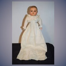 Antique Doll German Sonneberg Taufling Motschmann  Glass Eyes Sweet