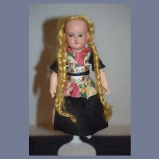 """Antique Doll Bisque Head 8"""" Fully Jointed Composition 9 Piece Body Armand Marseille"""