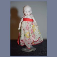Antique Doll Sweet All Bisque Miniature Dollhouse Jointed
