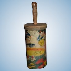 Old Wood & Litho Noise Maker Great Display with Doll