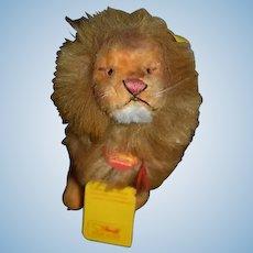 Vintage Steiff Lion 0805/19 W/ Button Tag String Tag Leo