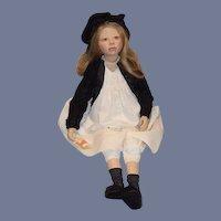 "Artist Doll ""Angela"" Christine Orange Porcelain Limited Edition W/ Tag 33"" Tall"