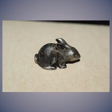 Old Kirk & Son Sterling Miniature Rabbit Doll Size Dollhouse Sweet