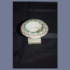 Old Doll Miniature Porcelain Urn German Dollhouse W/ Porcelain Flowers