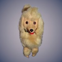 Vintage Dog Velveteen & Faux Fur Poodle Great with Doll