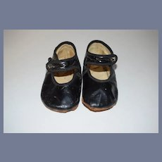 Old Leather Doll Child's Shoes W/ Button Sweet
