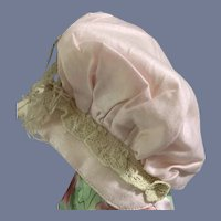 Sweet Doll Bonnet Lace Feathers Pleated Hat