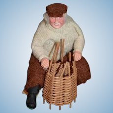 Wonderful Artist Doll Highland Character By Sheena Macleod Creel or Basket Weaver