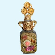 WONDERFUL Miniature Perfume Bottle Unusual Ornate Doll Vanity