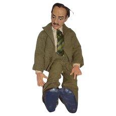 Vintage Artist Doll Celebrity Sculpture Groucho Marx By Ron Kron