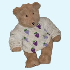 "Vintage Teddy Bear Jointed Unusual 25"" Tall"
