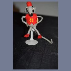 Vintage Italian Doll Felt Bellhop Mouse Sweet Cloth Doll