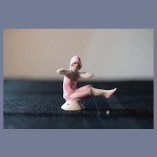 Old Miniature Half Doll Bathing Beauty Dollhouse China