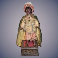 Peter Wolf Doll Artist OOAK Blackamoor Black Character Doll Wonderful W/ Stand
