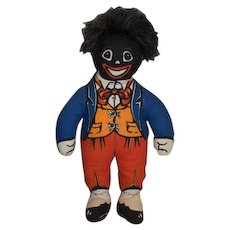Vintage Dean's Rag Book Doll Golliwog Cloth Doll Mr. Golly