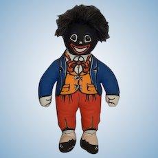 Vintage Dean's Rag Book Doll Golliwog Cloth Doll Mr. Golly
