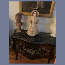 """Antique French Bisque Poupee GORGEOUS 22"""" Tall Closed Mouth"""