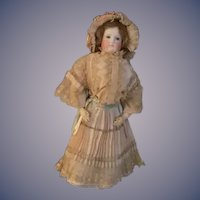 "Antique French Bisque Poupee GORGEOUS 22"" Tall Closed Mouth"