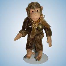 Old Steiff Jointed Monkey W/ Button in Ear