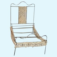 Old Metal Collapsible Doll Bed