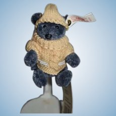 Vintage Boatswain Teddy Bear Steiff 665127 W/ Sweater outfit Button Tag String Tag Miniature