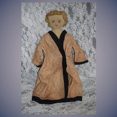 Old Doll Rag Doll Cloth Doll Painted Features Loved