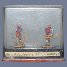 Miniature Miniploms ALYMER Spain English Arbalesters In Original Case Dollhouse