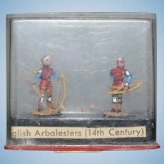 Miniature Miniploms ALYMER Spain English Arbalesters In Original Case Dollhouse