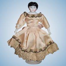 Antique Doll Miniature Dollhouse China Head Dressed